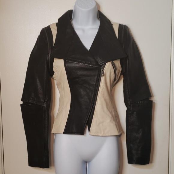 Other Faith Jackets & Blazers - Leather Moto Jacket Vest Convertible